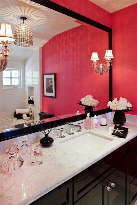 black and pink bathroom ideas girly bathroom and pretty i like the