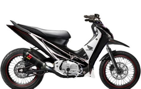 Modifikasi Motor Supra X 125 Underbone by Konsep Modifikasi Supra X 125 Road Race Paling Sporty Dan