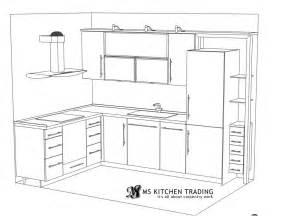 Kitchen Triangle Design With Island L Shaped Kitchen