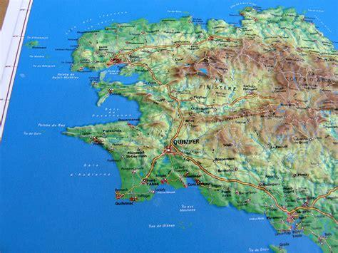 reliefkarte bretagne  landkarte