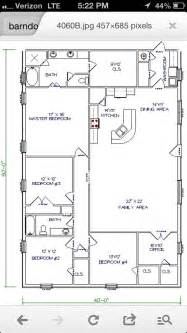 40x60 Barndominium Floor Plans by Barn House Workable Floor Plan Add Huge Garage Shop To