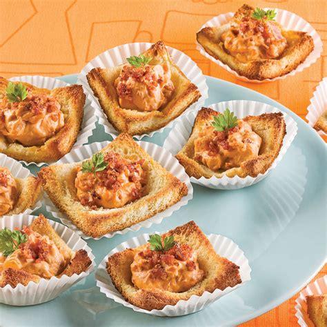 recette canape canapés au fromage et bacon entrées et soupes recettes
