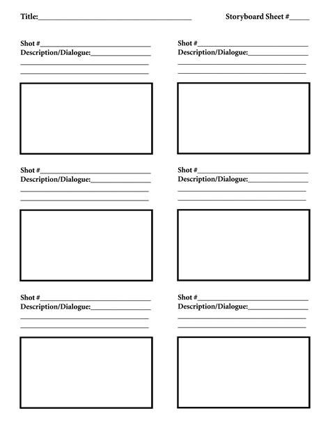 storyboard template free storyboard template tutorials hustle