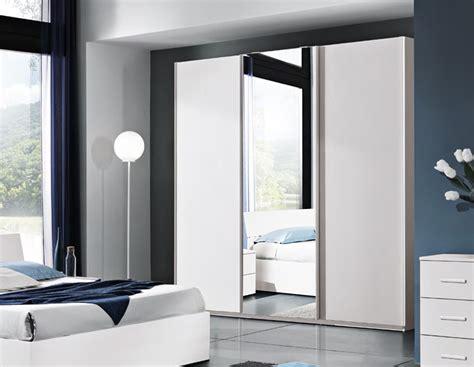 armadio   ante scorrevoli bianco frassinato  specchio