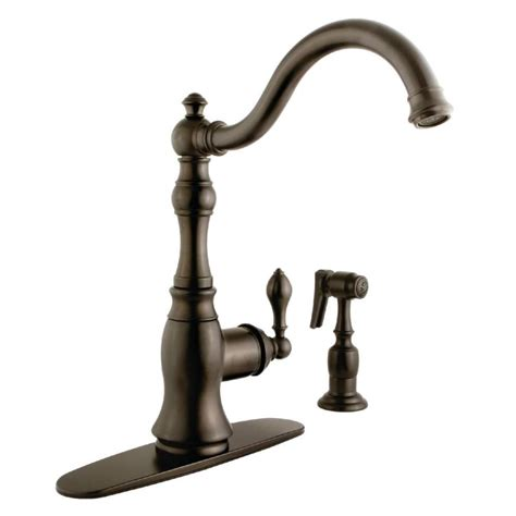 Rubbed Bronze Kitchen Faucet by Shop Kingston Brass American Classic Rubbed Bronze 1