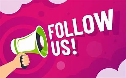 Follow Social Banner Followers Following Invite Loudspeaker