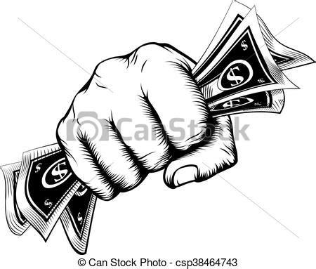 fist holding money concept  fist holding cash money
