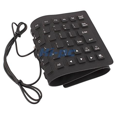 Portable 2.0 USB Mini Flexible Silicone Foldable PC Keyboard for Laptop Notebook   eBay