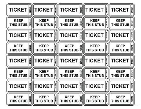 ticket of leave template blank raffle ticket tickets template free printable