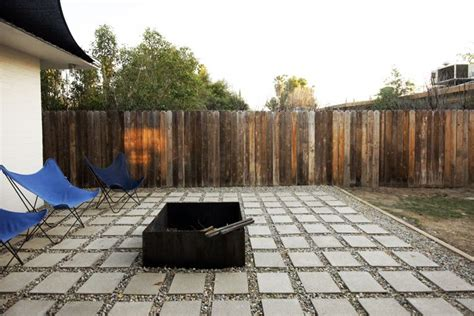 cement paver gravel patio outdoor living