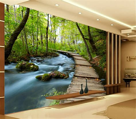 3d Hd Wallpapers Bedroom by 3d Wallpaper Bedroom Mural Modern Embossed Scenery Tv