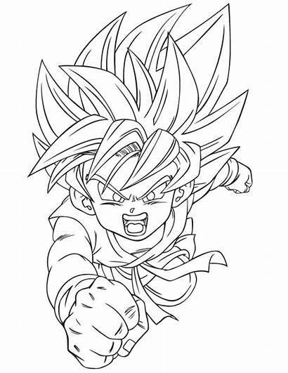 Coloring Pages Goku Dragon Ball Dragonball Kid