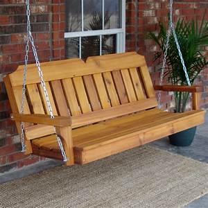 Tmp Outdoor Furniture Victorian Red Cedar Outdoor Porch Swings