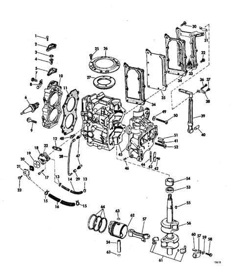 20 Hp Johnson Outboard Diagram by Johnson Powerhead Parts For 1969 6hp 6r69m Outboard
