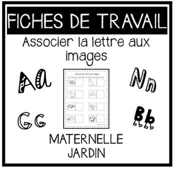 letter matchingjassocie mes lettres aux images french