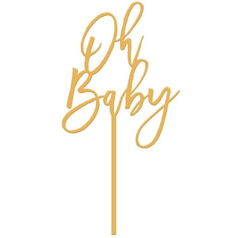 mid century modern curtains moon and lola oh baby cake topper gold