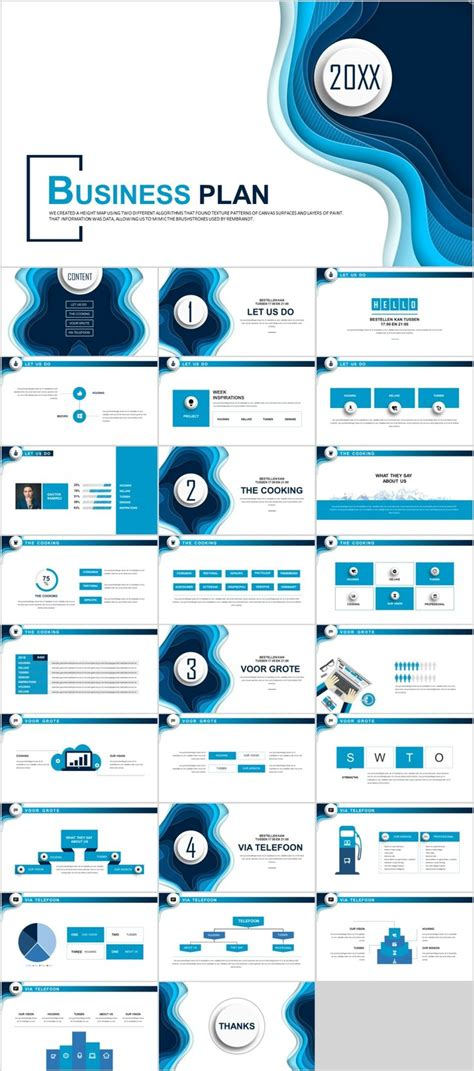 business infographic  blue business introduction