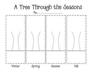 tree   seasons template  kindergarten
