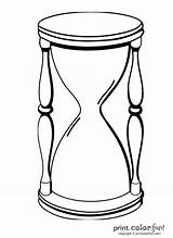Hourglass Coloring Pages Outline Vector Sand Clipart Animated Clip Print Designs Printcolorfun Any sketch template