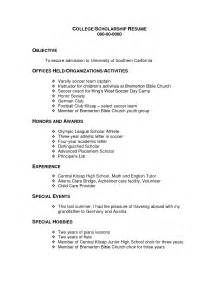 college scholarship resume objective exles scholarship resume template berathen com