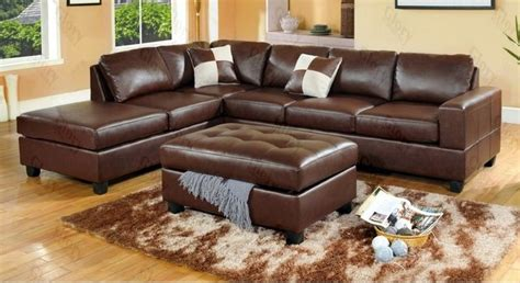 Cheap Leather Sofa And Loveseat by Awesome Leather Brown Sectional Sofa Cheap With Classic