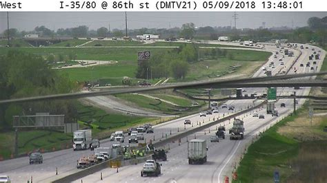 interstate highway transportation dot completion plan features state iowa traffic camera