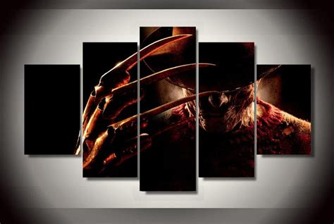 panels freddy krueger group artwork multi canvas art