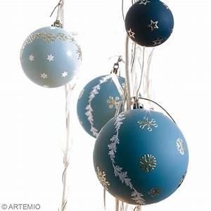 Boule De Noel A Fabriquer : fabriquer des boules de no l d coratives id es et ~ Nature-et-papiers.com Idées de Décoration