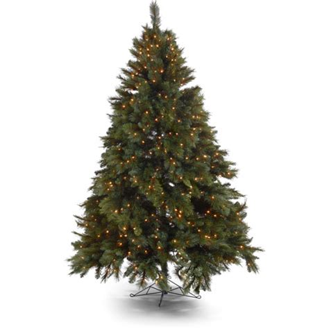 walmart christmas trees with lights holiday time prescott pine artificial christmas tree with