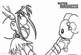 Glitter Force Coloring Pages Screaming Printable Adults sketch template