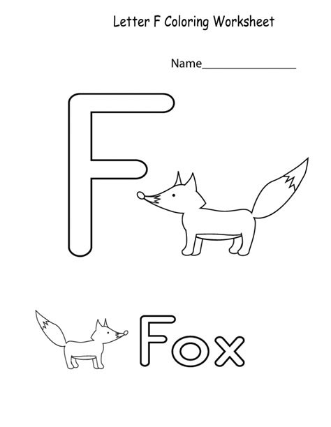 letter f worksheets learning printable