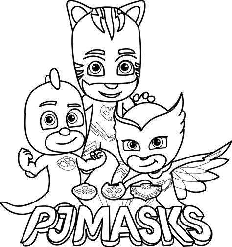 pj masks coloring pages  coloring pages  kids