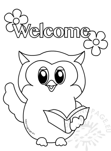 owls primary classroom colouring page coloring page