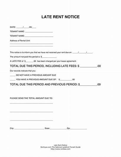 Rent Notice Late Template Blank Allbusinesstemplates Afkomstig