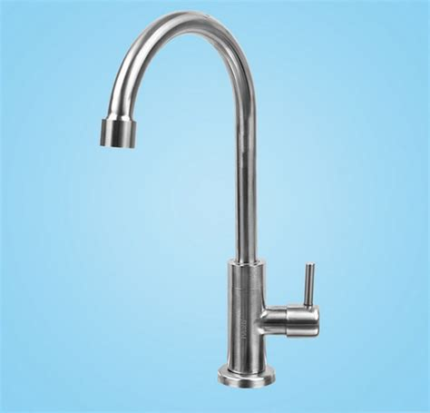 kitchen water faucets lead free sus304 brushed nickel kitchen faucet single cold