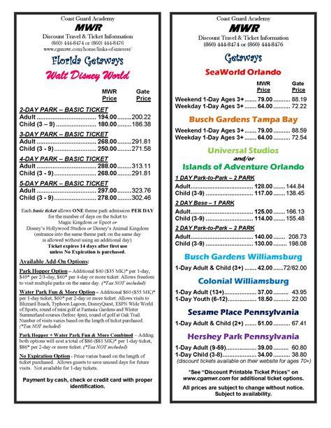 Bush Garden Ticket Price by Prices For Busch Gardens Tickets Home Outdoor Decoration