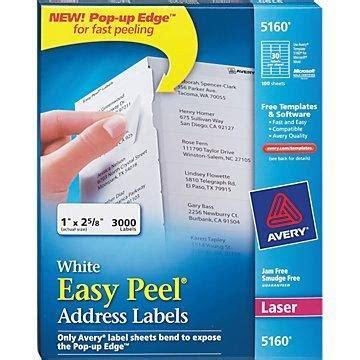 white address laser labels