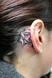 Behind Ear Name Tattoo Ideas