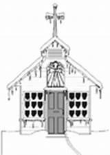 Iglesia Winter Colorear Kirche Kerk Dibujo Invierno Kleurplaat Malvorlage Dibujos Coloring Church Kleurplaten Malvorlagen sketch template