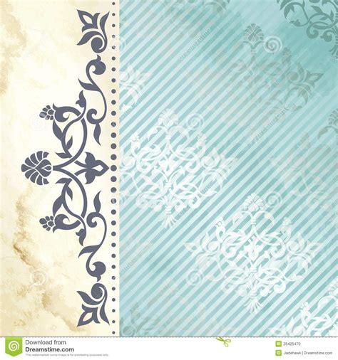 fond floral d arabesque en bleu et or photo stock image