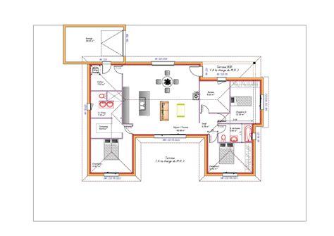 Plan Maison 2 Chambres - amazing modles et plans de maisons ue modle de plain pied