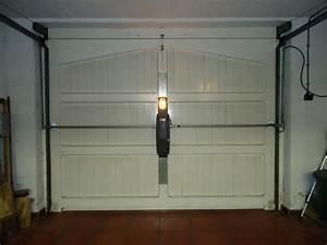 porte de garage basculante non debordante motorisee With motorisation porte de garage basculante debordante