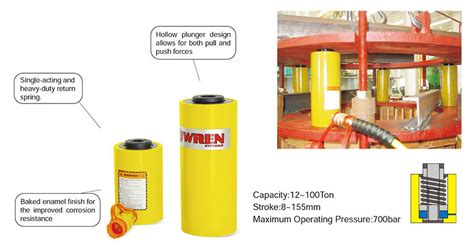 rch series single acting hollow plunger cylinder single acting series hydraulic cylinder