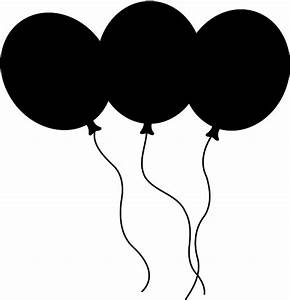 Birthday Balloons Clipart Black And White | Clipart Panda ...
