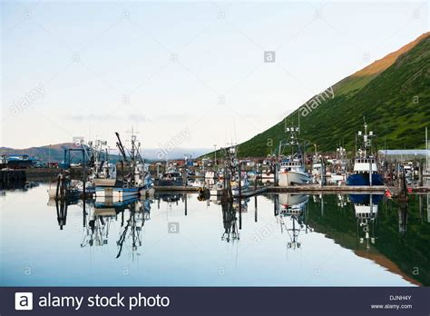 King Cove Alaska by Commercial Fishing Boats Moored In The King Cove Harbor