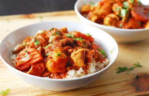 white kitchen knives cape chicken and vegetable curry foodal