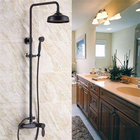 country kitchen faucet retro black rubbed bronze bathroom exposed shower faucets