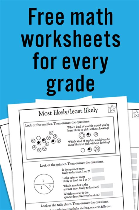 math and science worksheets for kindergarten free