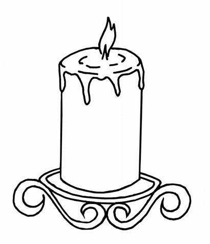 Candle Burning Coloring Drawing Pages Candles Colouring