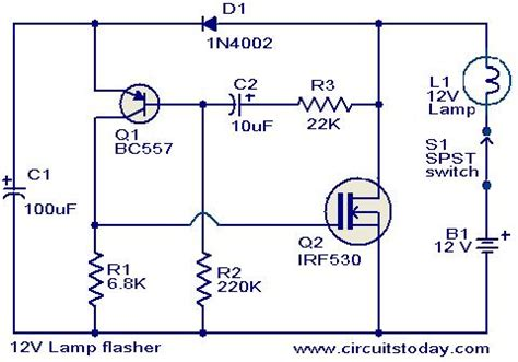 12v l flasher circuit todays circuits engineering
